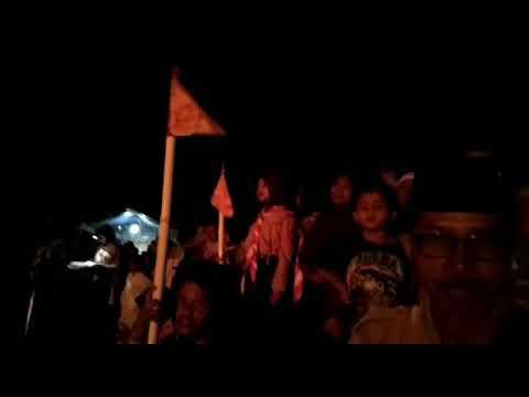 Penampakan di malam api unggun, perkemahan kec. Tanjung 2017