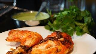 Recette de cuisine Indienne : Poulet Tandoori et sauce coriandre