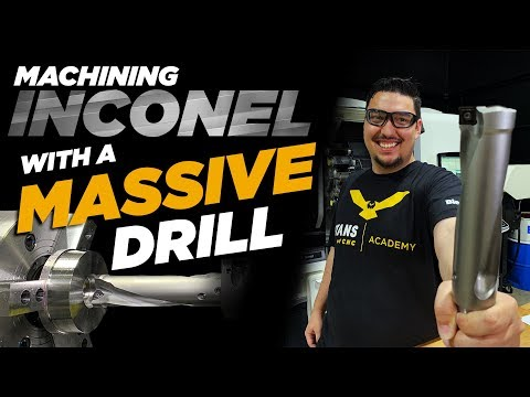 Drilling Inconel with a Massive 2.0 Dia Kennametal Drill - Vlog#44