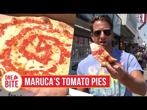 """Dave is at a very popular Jersey Shore pizza place, but it has to be remembered it is in the category of """"Boardwalk Pizza""""."""
