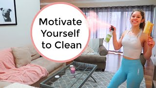 9 Ways to MOTIVATE Yourself to CLEAN | Spring Cleaning Motivation & Tips