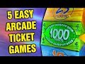 5 ARCADE TICKET GAMES THAT ARE EASY TO WIN!