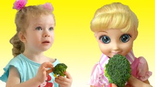 Yes Yes Vegetables Song | Its time to eat broccoli song | Nursery Rhymes by Sasha Kids Channel.