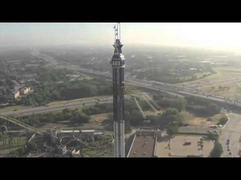 Skyscreamer la giostra pi alta del mondo youtube for Statua piu alta del mondo