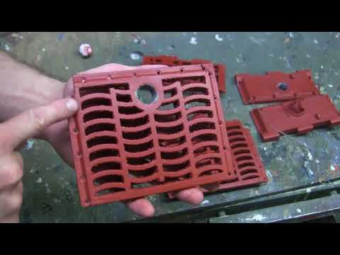 Vintage RC 1/6th scale armortek early production Tiger I Video#10 (rear grill work) part 2 of 2