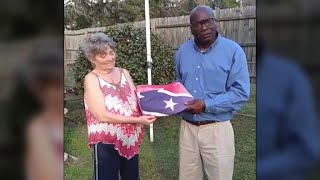 Bringing down a Confederate flag brought a community together