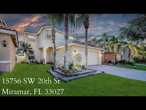 4 Bedroom Home For Sale In Miramar - 15756 SW 20th St, Miramar