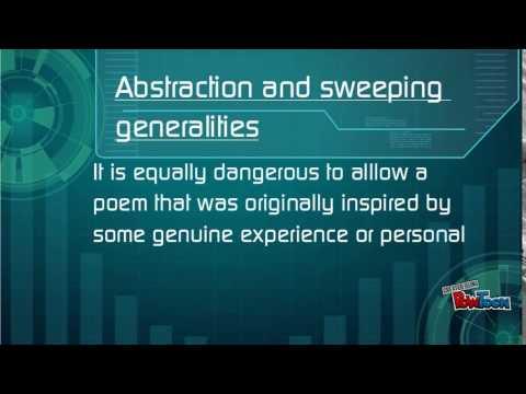 Dangers in poetic diction