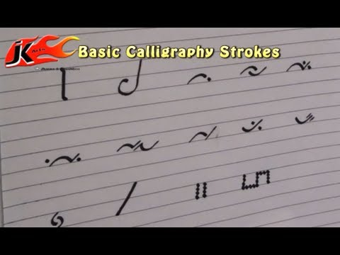Diy beginners calligraphy tutorial basic strokes jk arts Calligraphy basics