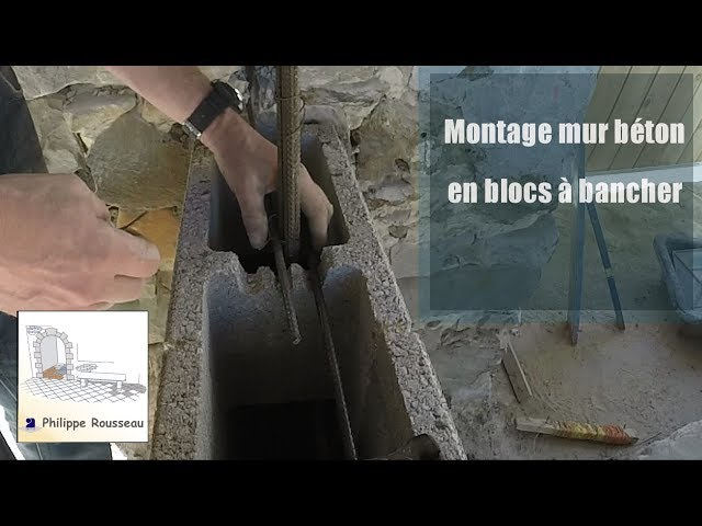 Monter un mur en beton armé en bloc a bancher - Vidéo complète