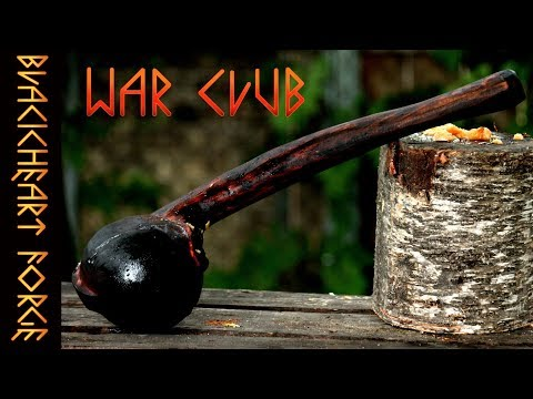 Native American WAR CLUB: Complete Build With Axe And Angle Grinder