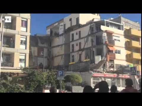 Varios desaparecidos al derrumbarse edificio en la isla canaria de Tenerife