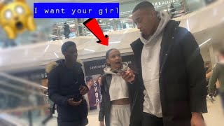 FLIRTING WITH GIRLS INFRONT OF THEIR BOYFRIENDS (public prank gone wrong)👀🙅🏽♂️