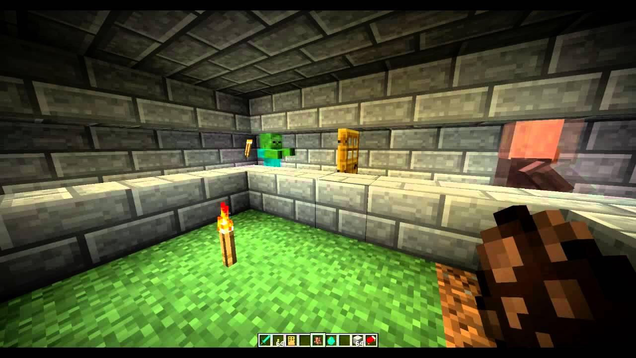 Zombies Can Open Doors?! - Minecraft 122.122