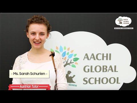 Austrian tutor Sarah Schurien visits Aachi Global - Creative IB IGCSE school in Chennai