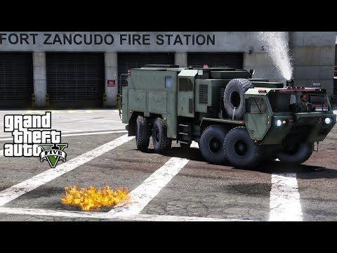 GTA 5 Firefighter Mod 52 M1142 Military Tactical Fire Fighting Truck | Fire In The Control Tower