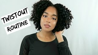 natural hair defined twist out routine with volume