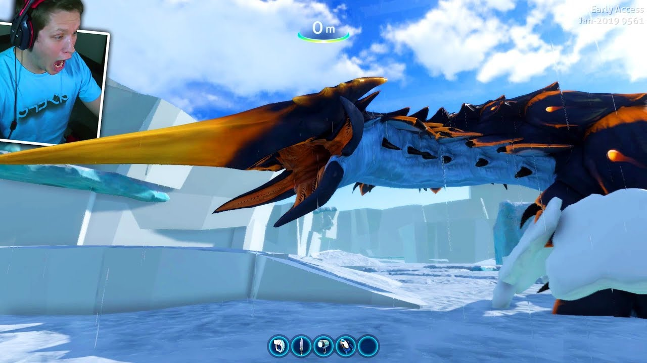 ICE WORM LEVIATHAN ATTACK *TERRIFYING* - Subnautica: Below Zero