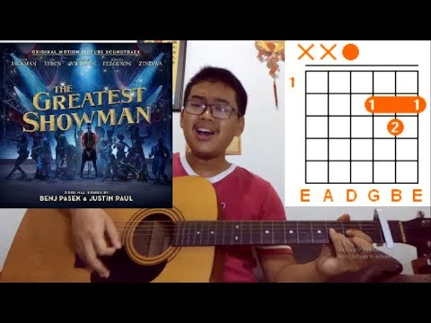 How to Play- Never Enough - Guitar Tutorial Lesson Chords - The Greatest Showman- Loren Allred