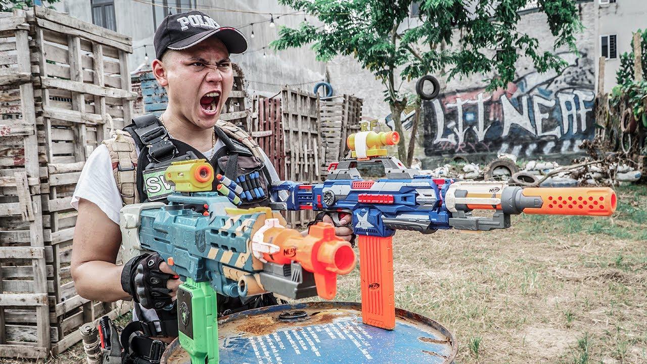 LTT Game Nerf War : Captain Warriors SEAL X Nerf Guns Fight Rocket Crazy Legendary Commando