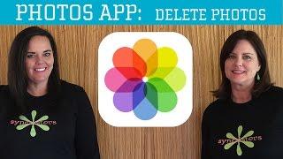 iPhone / iPad Photos App - Delete Photos
