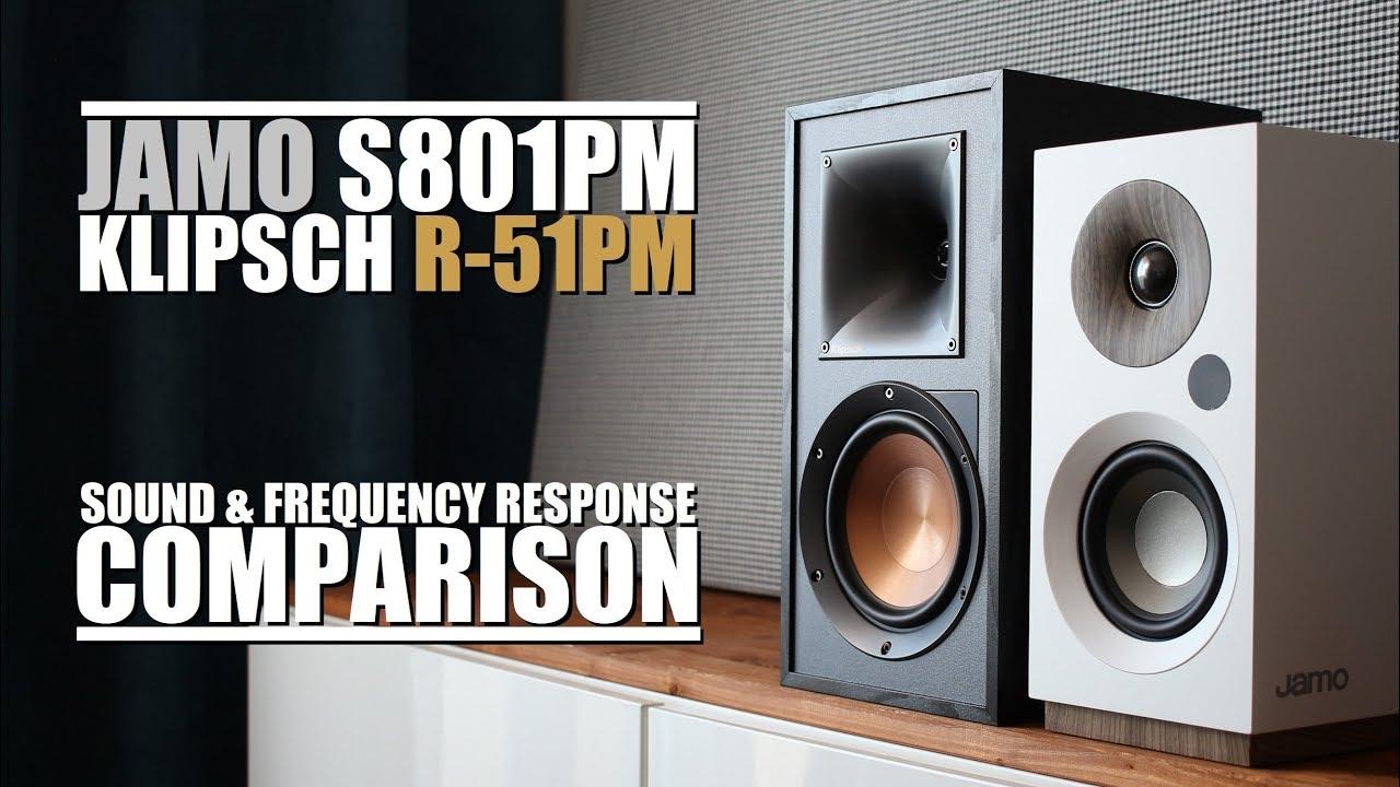 Jamo S801pm Is Half The Price Half The Sound Of Klipsch R 51pm Sound Response Comparison Youtube