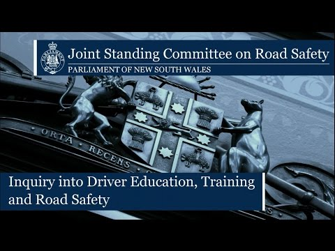 Announcement of public hearings for Inquiry into Driver Education, Training and Road Safety