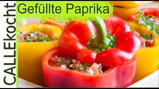 Gefüllte Paprika mit Hackfleisch - Omas Rezept