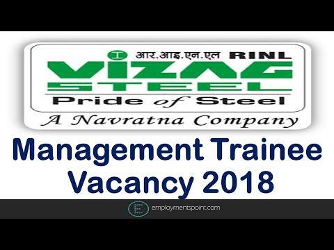 RINL Management Trainee Vacancy 2018 | Latest Engineering Jobs