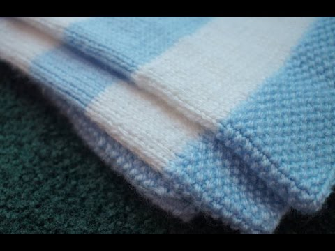 Left Handed Seed Stitch Tutorial, Complimentary Striped Baby Blanket Pattern ...