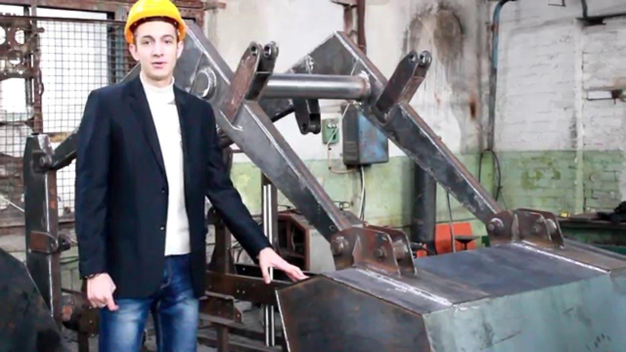самодельный мини трактор с куном - YouTube