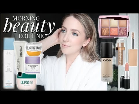 Morning Routine | Skin, Body, Haircare, & New Makeup Products Playdate!