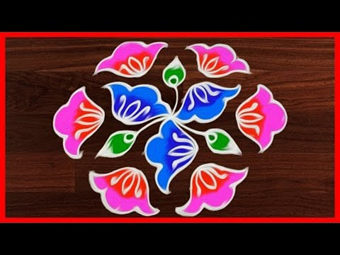 #288 Rangoli Art | 11 to 6 Dots | Easy Rangoli Designs | Rangavalli Festival Arts