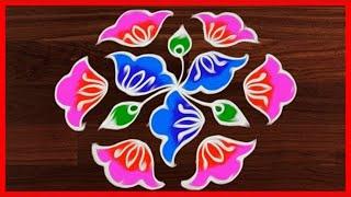 #288 - Sankranthi Special Muggulu | 11 to 6 Dots | Easy Rangoli Designs | Rangavalli Festival Arts