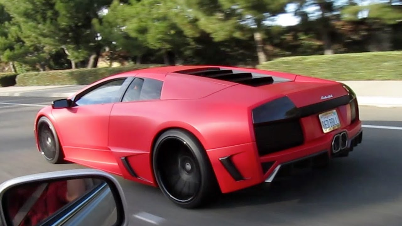 Matte Red Premier4509 Lamborghini Murcielago On The Road Youtube
