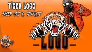 Tiger Logo - Speed Art and Free Template