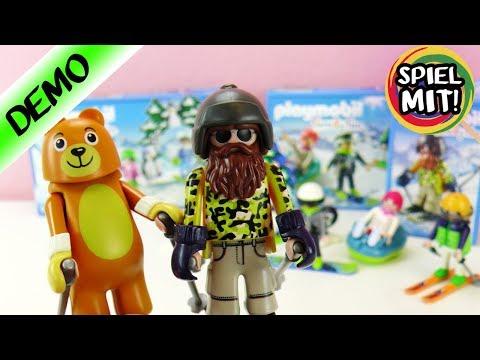 Playmobil Family Fun SKI URLAUB | 3 coole WINTER Sets | Skischule, Freizeit Wintersportler | deutsch
