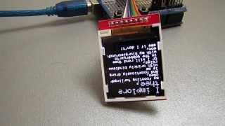 1.44'' 128X128 SPI Color TFT LCD Module Display, ILI9163, обзор