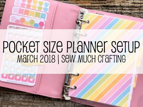 Pocket Size Planner Setup   March 2018
