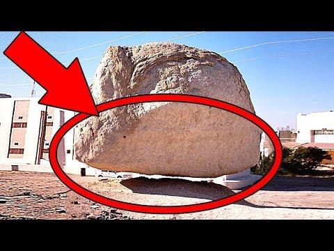 هذه الصخرة تزن 700 طن معلقة في الهواء منذ 60 مليون سنة ولم تسقط على الارض ابدا , شاهد لماذا لم تسقط