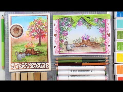 Fall and Spring Woodland Cards // 2 Looks with 1 Stamp Set!