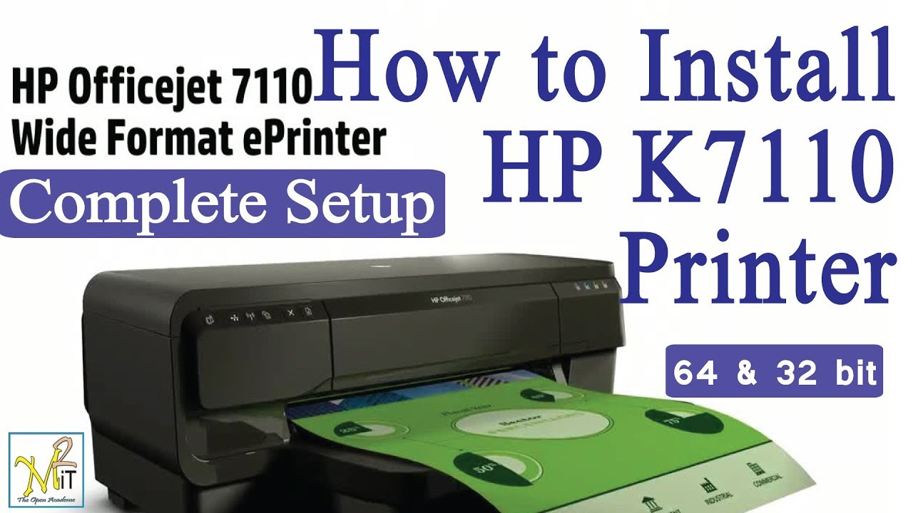 How To Install Hp K7110 Series E Printer And Oj7110 Step Officejet 7110 Print Web Wifi By With Network Printing