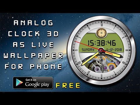 Analog Clock Live Wallpaper 3D Clock Widget With Compass #Home Screen #Screen Saver #Lock Screen