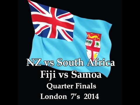 London 7's 2014 Quarter Finals Fiji vs Samoa & NZ vs South Africa