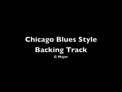 Chicago Blues Style Backing Track G [HQ]