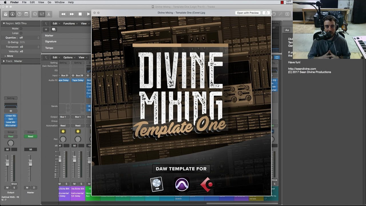 Divine Mixing Template One Logic Pro Cubase And Pro Tools Youtube