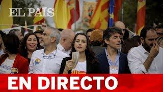 DIRECTO: Miles de personas se manifiestan en Barcelona para celebrar el 12-O