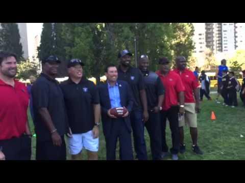 Raiders & 49ers NFL Alumni At NFL Play 60 #NFLKickoff
