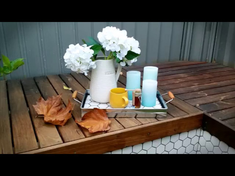 The Small Reno Project DECOR: DIY Tiling a Kmart Serving Tray