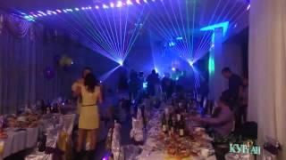 Лазерное шоу на свадьбе у Александры и Артёма в Катайске 21.11.2015